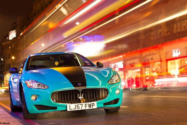 Hot Pursuit With Images Maserati Granturismo Maserati Blue Car