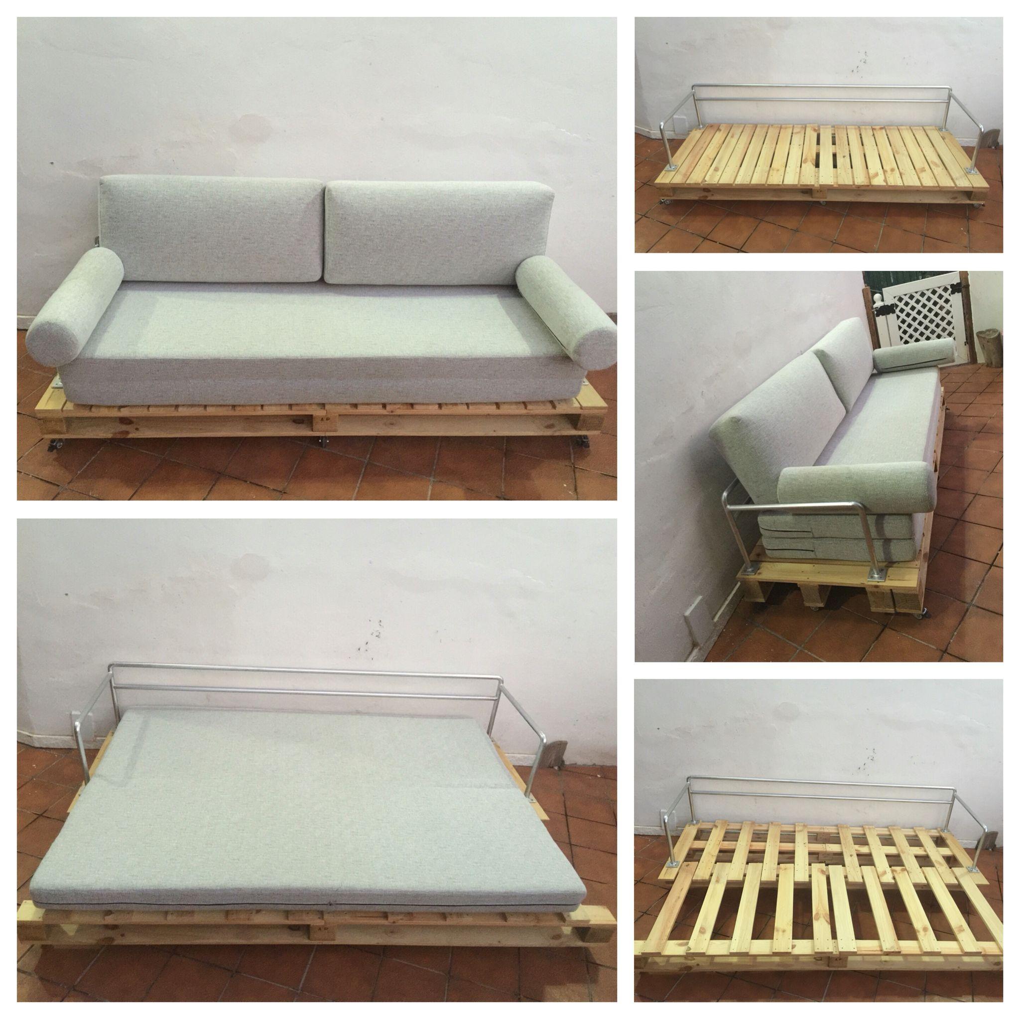Palets de madera cama junto a lo mostrado en cuanto a for Reciclar una cama de madera