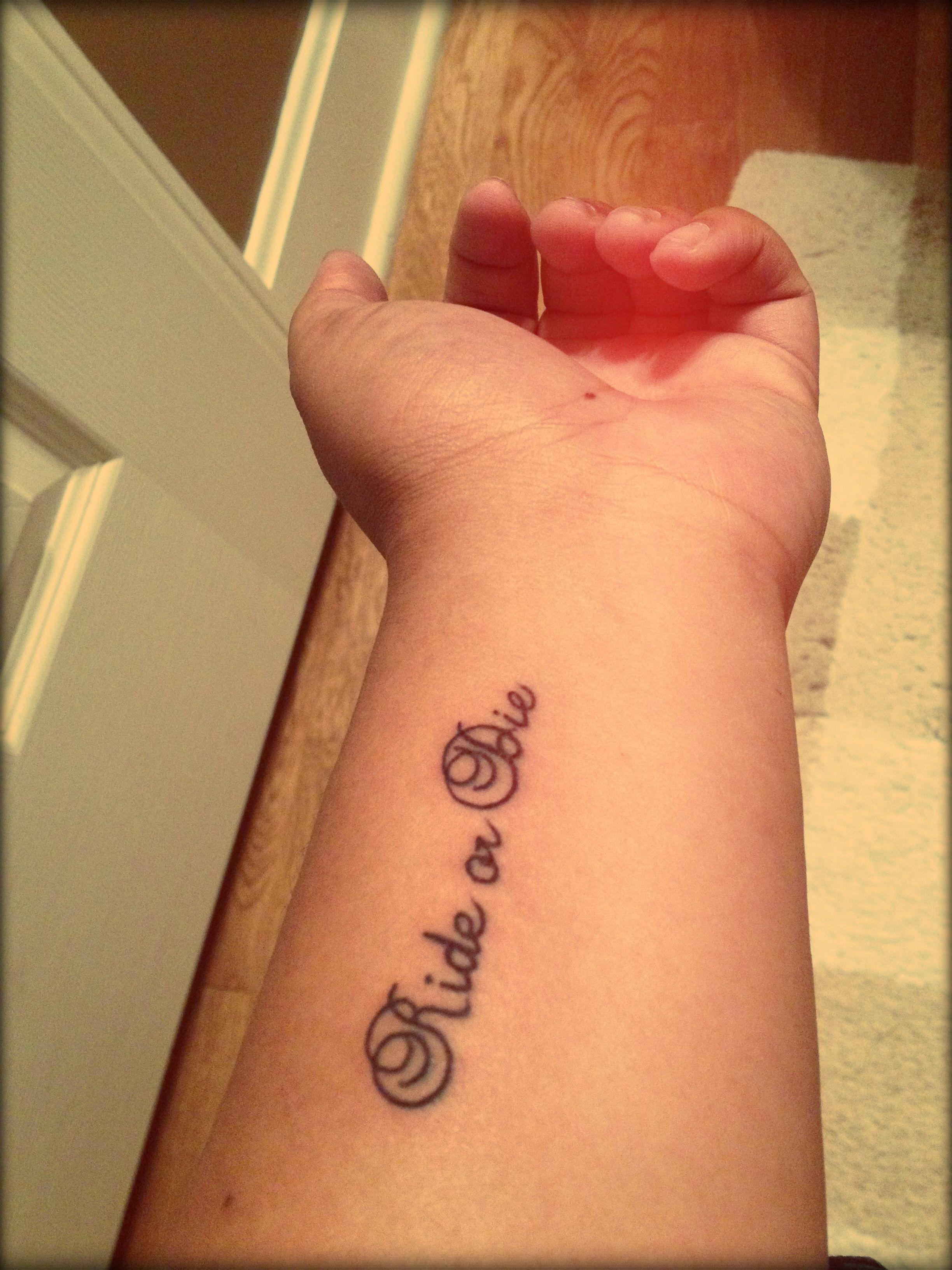 Ride Or Die Tattoo Tattoos Pinterest Tattoos Ride Or Die