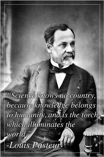 inspirational quote poster LOUIS PASTEUR renowned ...