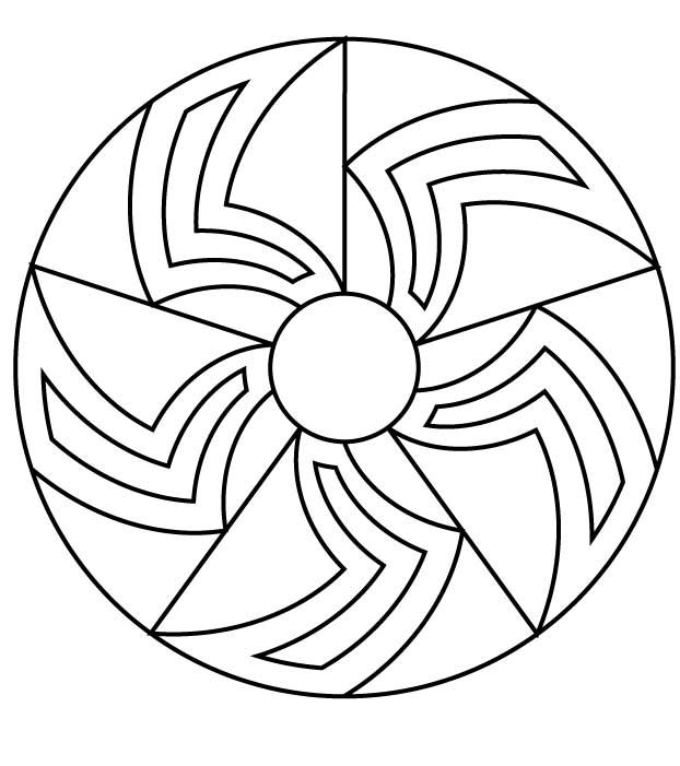 simple mandala coloring pages for kids - Simple Mandala Coloring Pages Kid