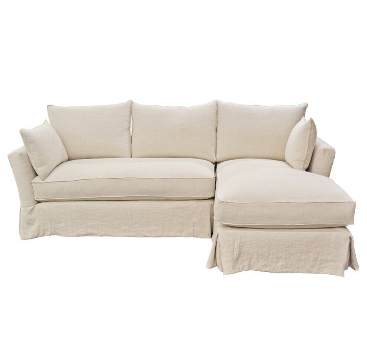 Marvelous Quatrine Contemporary Slipcovered Sectional With Chaise Uwap Interior Chair Design Uwaporg