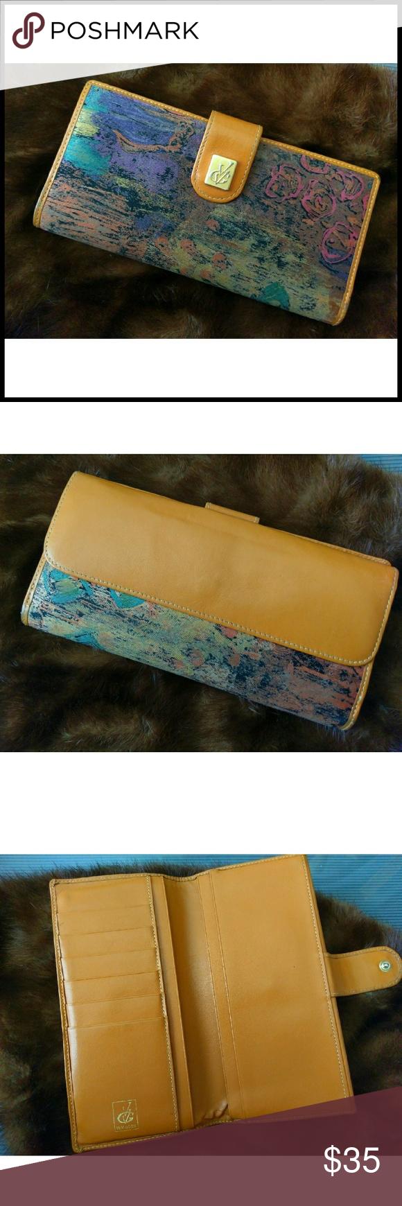 Hp 5 6 Vtg Van Gogh Wallet Vintage Bags Wallet Vintage Leather