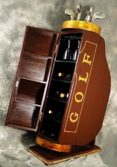 Golf Bag Wine Cabinet | Speakeasy | Pinterest | Wine cabinets