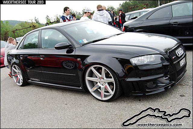 Black Audi Rs4 On Vossen Wheels German Audi Audi Rs4 Black Audi