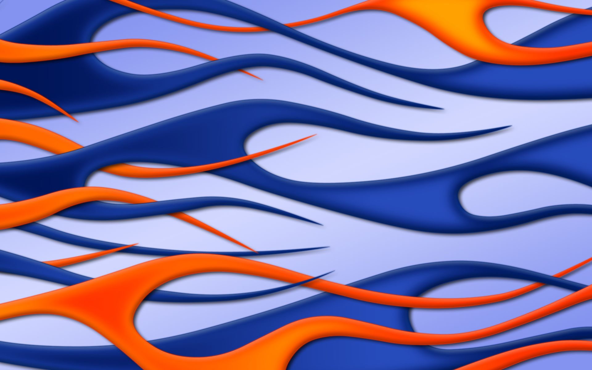 car with blue flames Flames Blue Jbensch Orange