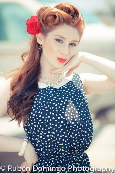 40\'s pin-up inspired vintage planes shoot | Retro hairstyles, Short ...
