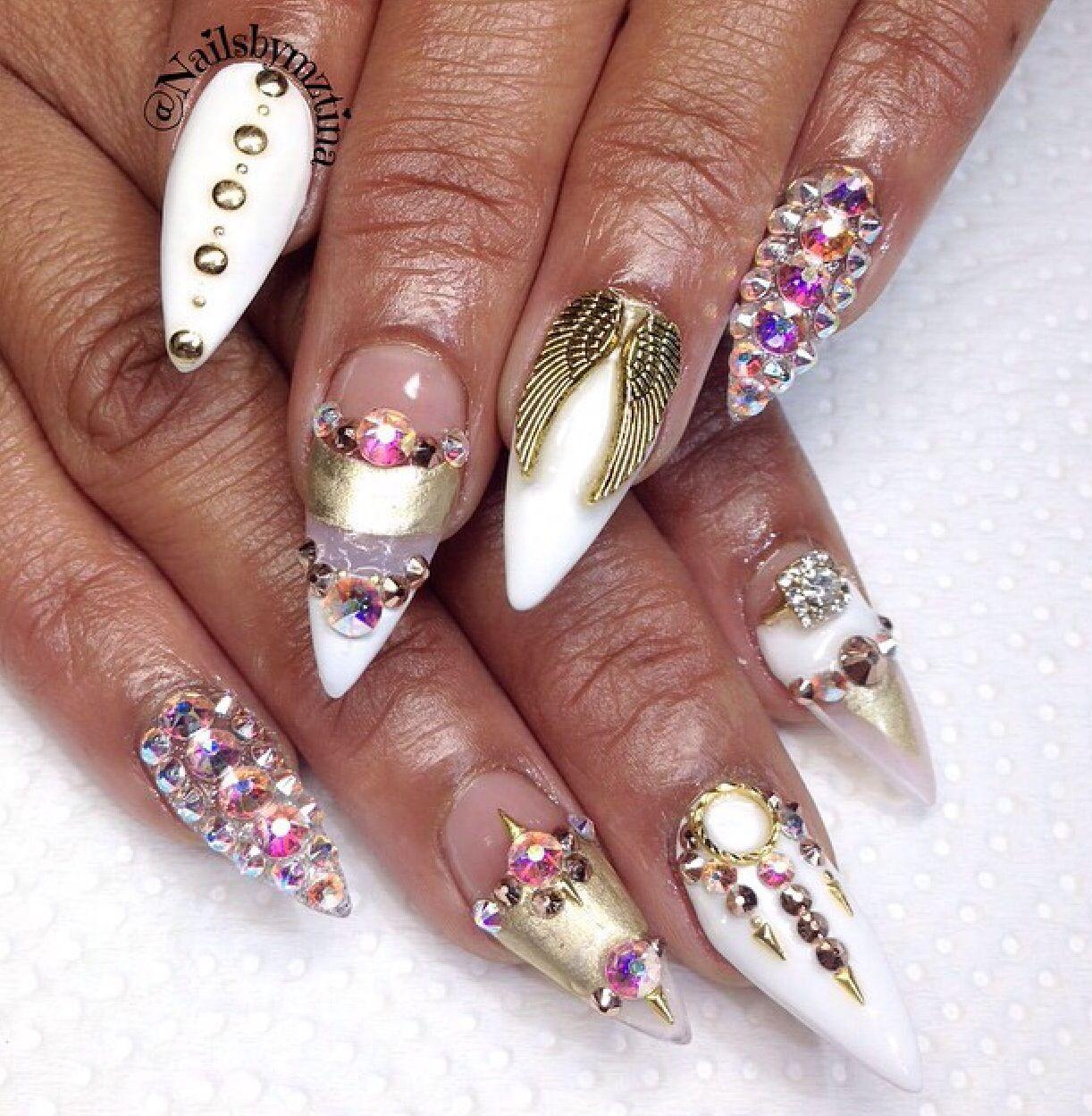 Angel wings Stilettos   modern nail art   Pinterest   Nailart und ...