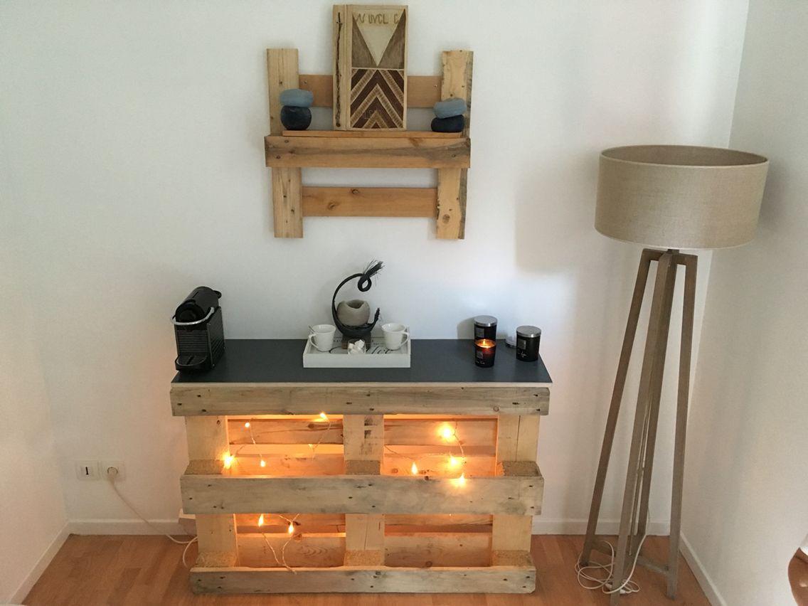 Comment Faire Une Table En Béton Ciré console palette + plateau béton ciré | decoration, beton