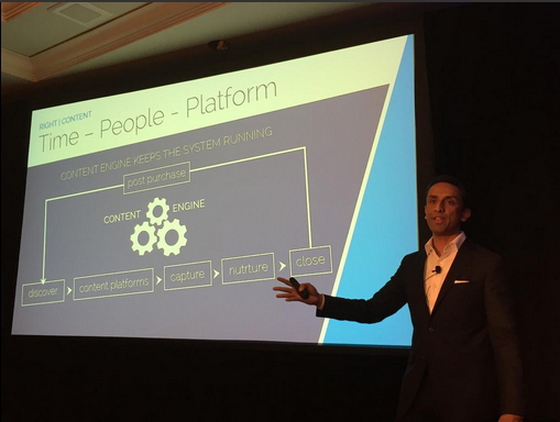 """Categorize your #content based on where your customers are in their journey""–D&B CMO @RishiPDave #DF14 #DnBData"