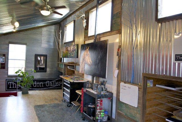 Rustic Art Studios Window Galvanized Steel