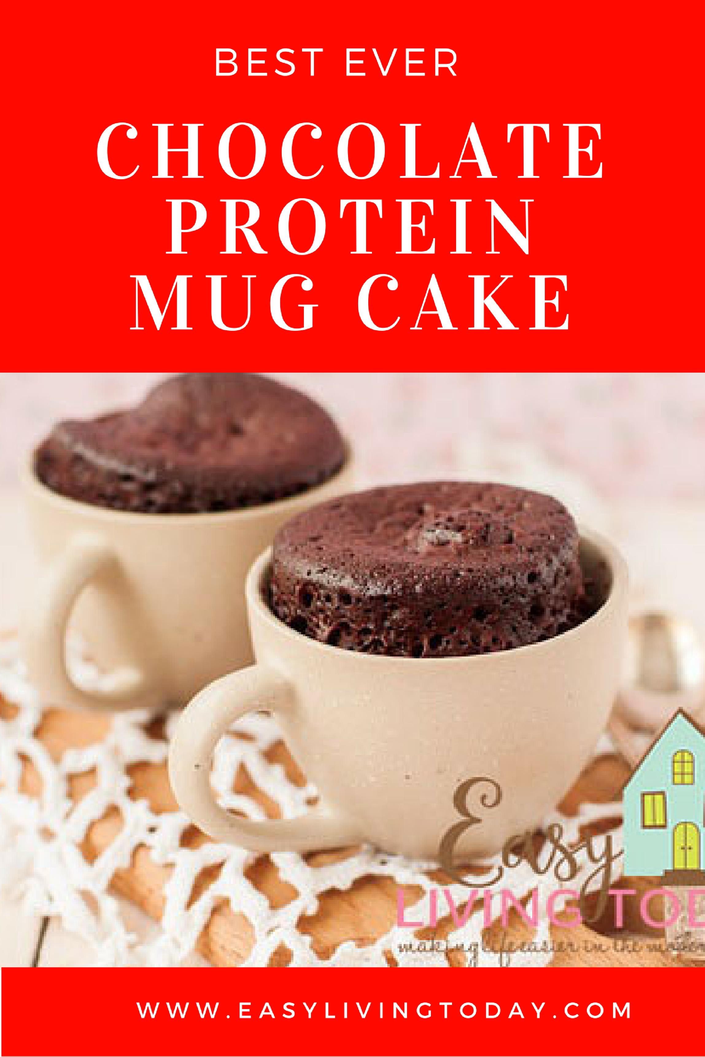 Best Ever Chocolate Protein Powder Mug Cake Recipe for Clean Eating #proteinmugcakes