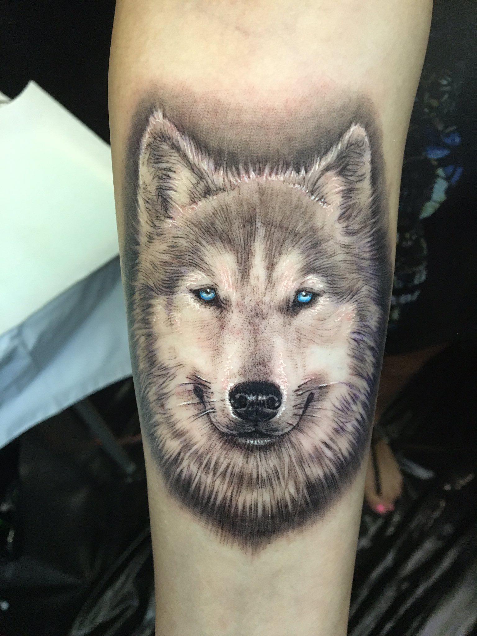 Siberian Husky Tattoo Husky Tattoo Dog Tattoos Husky Tattoo