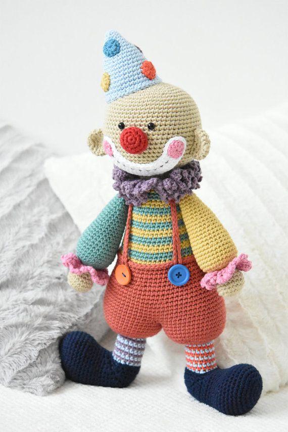 PATTERN - Chatterbox the Clown - crochet amigurumi pattern, PDF ...