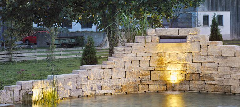 Wasserspiel im eigenen Garten KLASSIKLINE liefert die optimale - wasserfall im garten modern