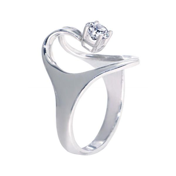 ISIS Diamond 14k White Gold Ring | Arosha Luigi Taglia; Center Stone: Diamond 0.25 carat