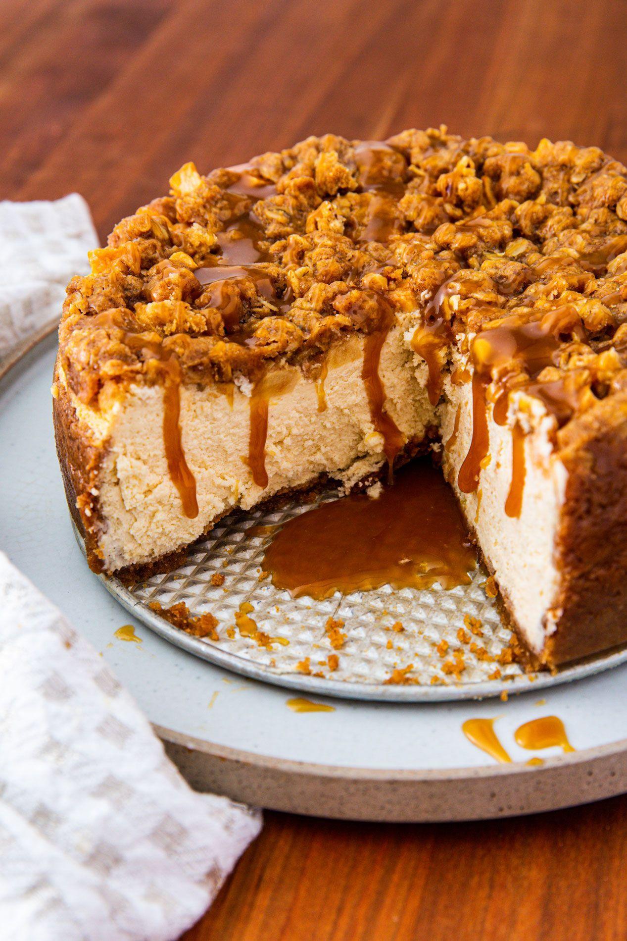 Apple Crisp Cheesecake Recipe Culinary desserts