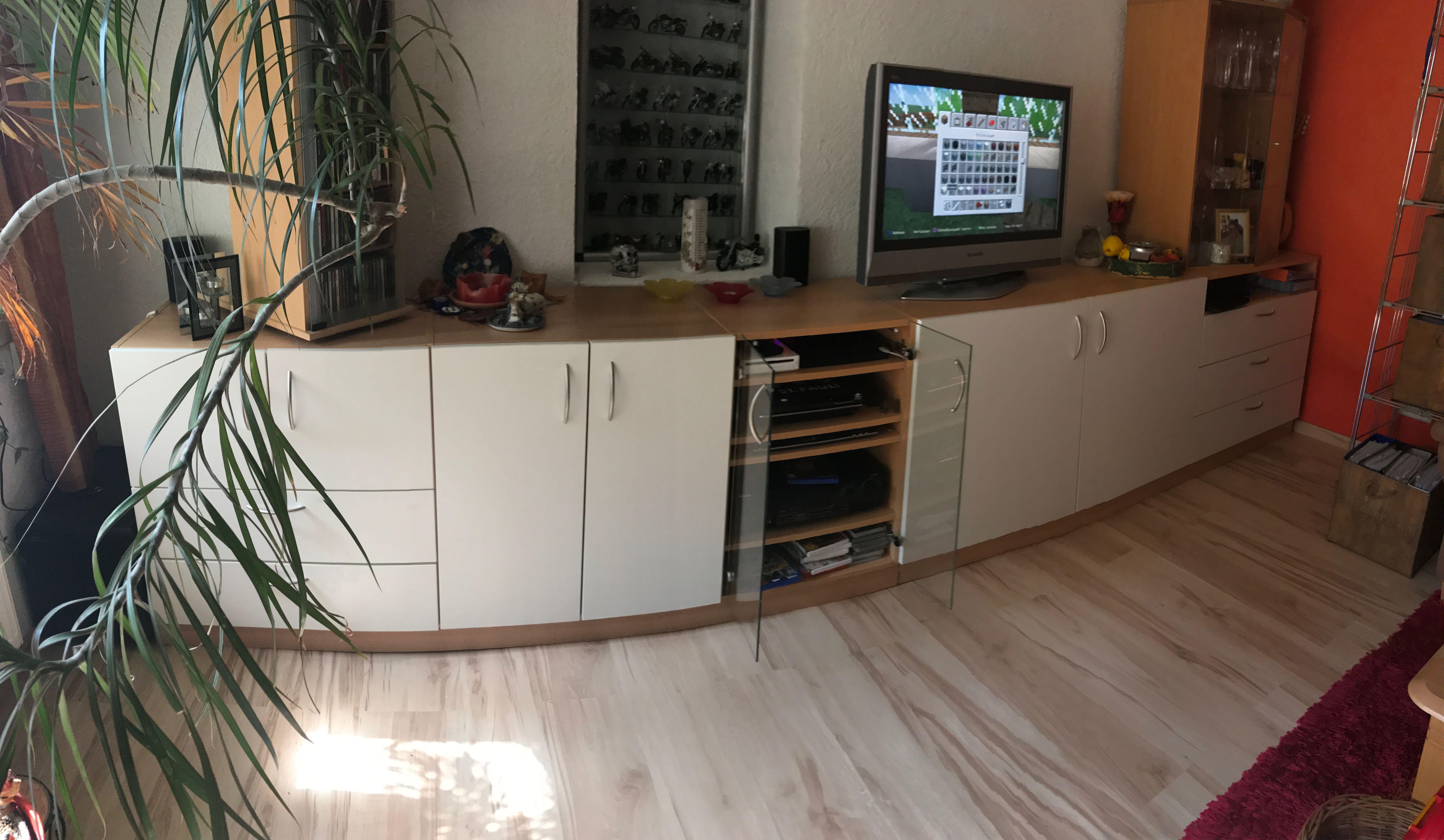Wohnzimmer Buche ~ Sideboard im dekor buche weiß im wohnzimmer online geplant auf