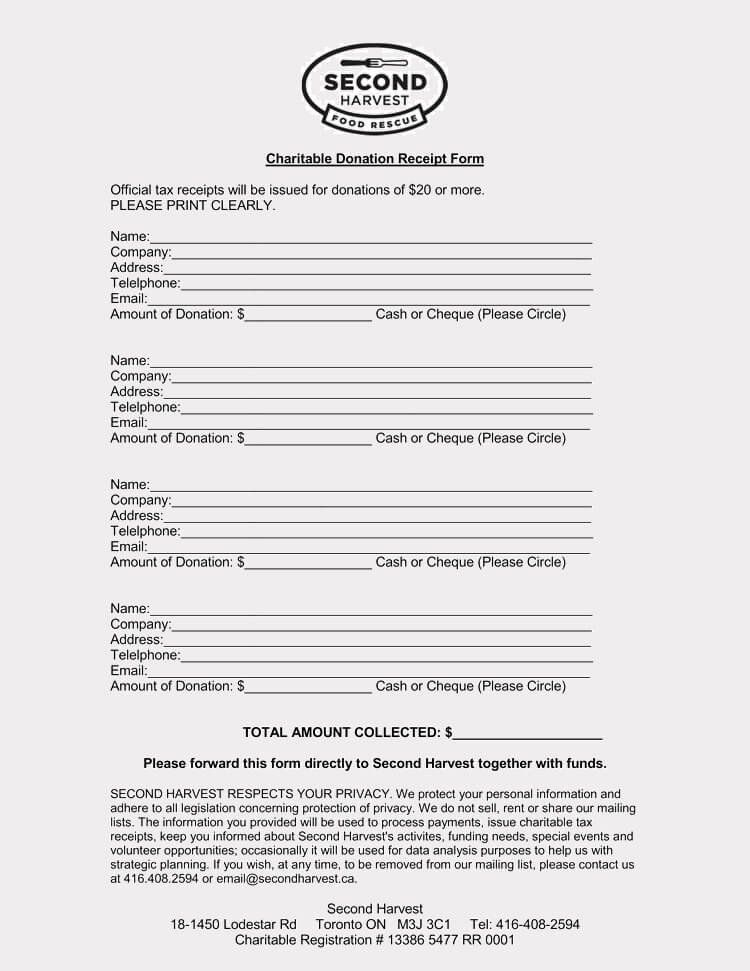 Nonprofit Donation Receipt Template Awesome 45 Free Donation Receipt Templates Formats Docx Pdf Receipt Template Charitable Donations Receipt
