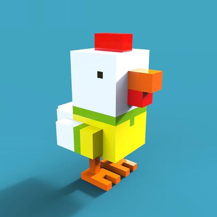 Art of Christian Hamm Brazil Chicken Crossy Road fan art 3D