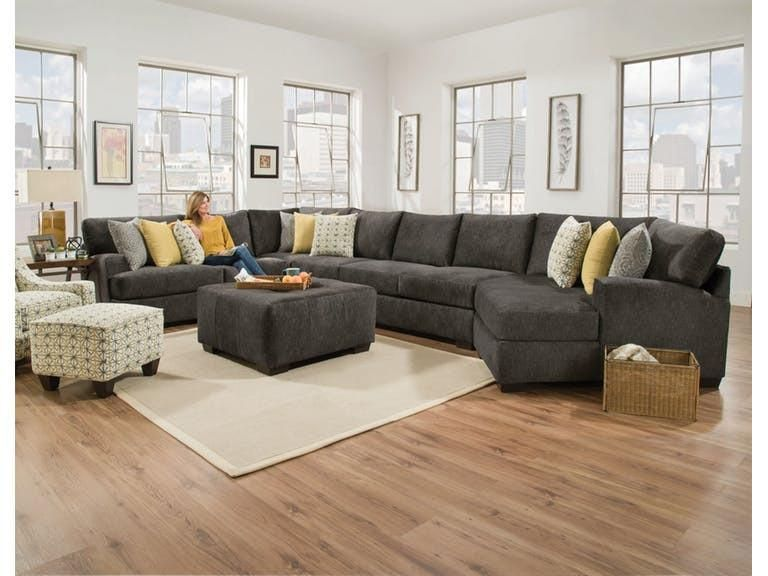 Alton 4 Piece Right Side Cuddler Sectional Mattress Furniture Sectional Sofa Living Room Sectional #pasadena #gray #living #room #sectional