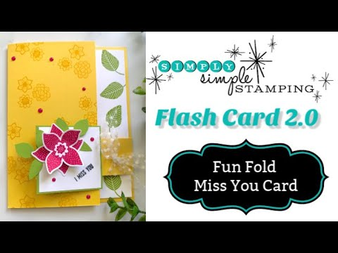 A Fun Fold Flap Card That's Bright & Cheery | Flash Card 2.0 Series - YouTube