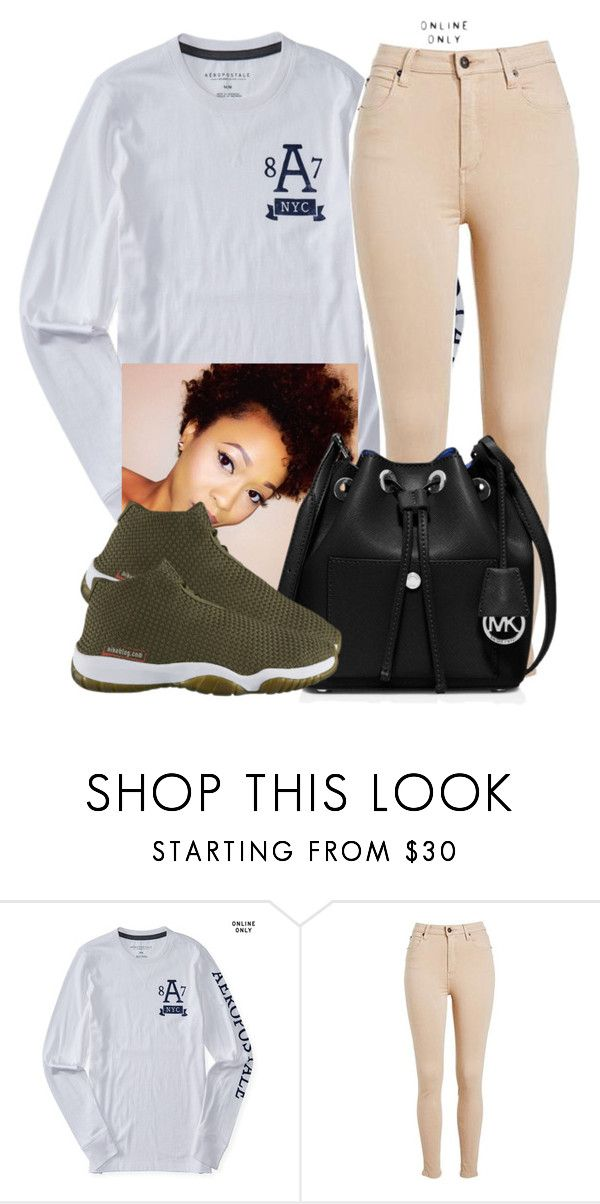 """Untitled #603"" by chynaloggins ❤ liked on Polyvore featuring Aéropostale and MICHAEL Michael Kors"