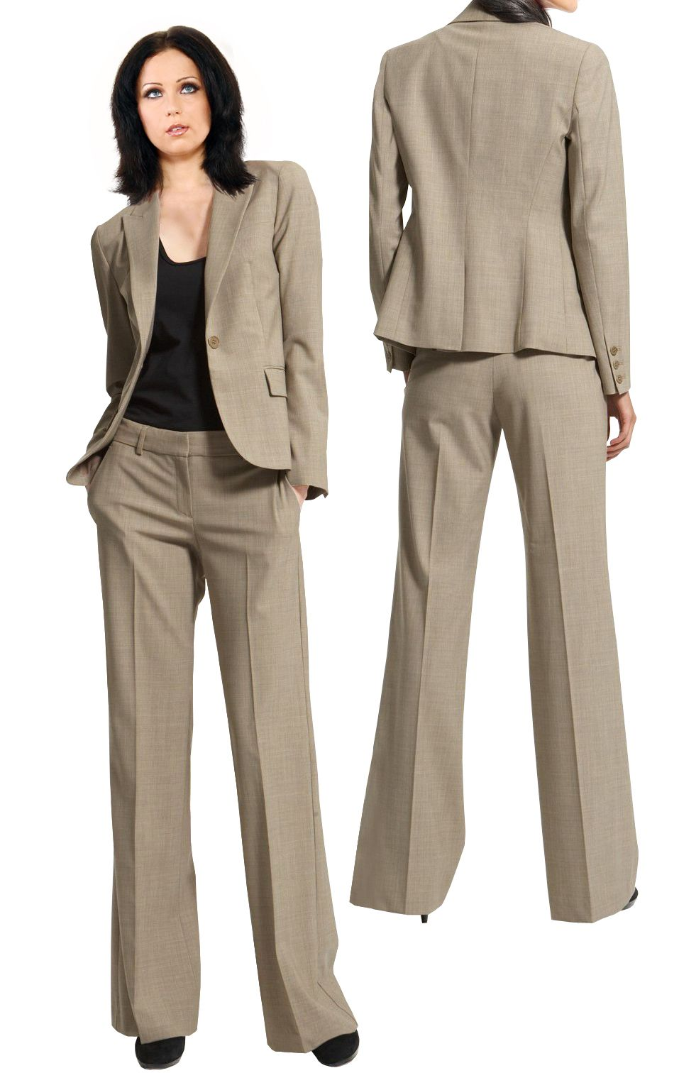 Petite Suiting- Suits For Petite Women | Tan pants, Interview and