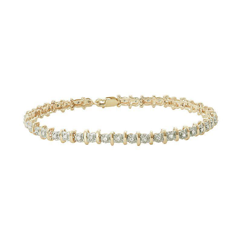 10k Gold 1 2 Carat T W Diamond Tennis Bracelet Tennis Bracelet Diamond Sterling Silver Diamond Bracelets Tennis Bracelet