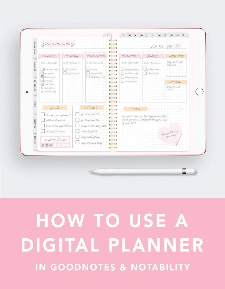 Digital Planner Tutorial Planner apps, Ipad pro, Planner