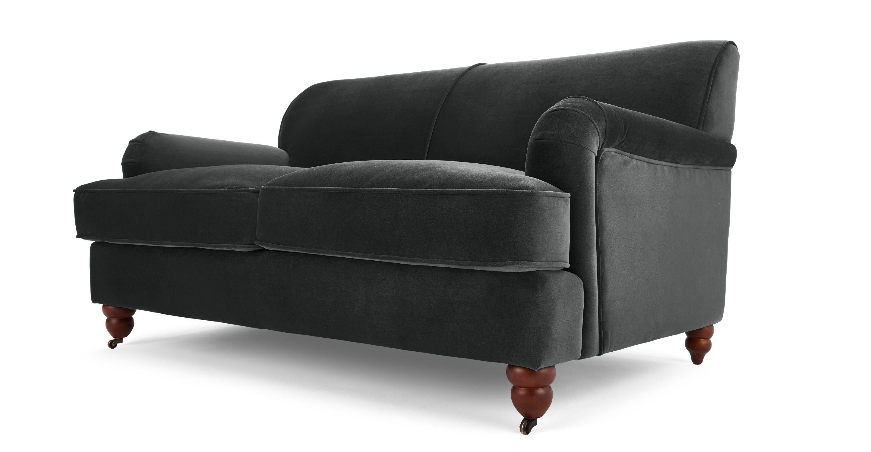 awesome 2 Sitzer Sofas Orson 2 Sitzer Sofa Samt in Nachtgrau
