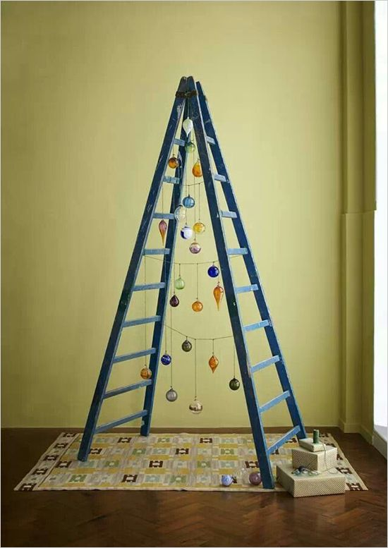 Christmas Tree Alternatives Christmas tree, Alternative and Ladder