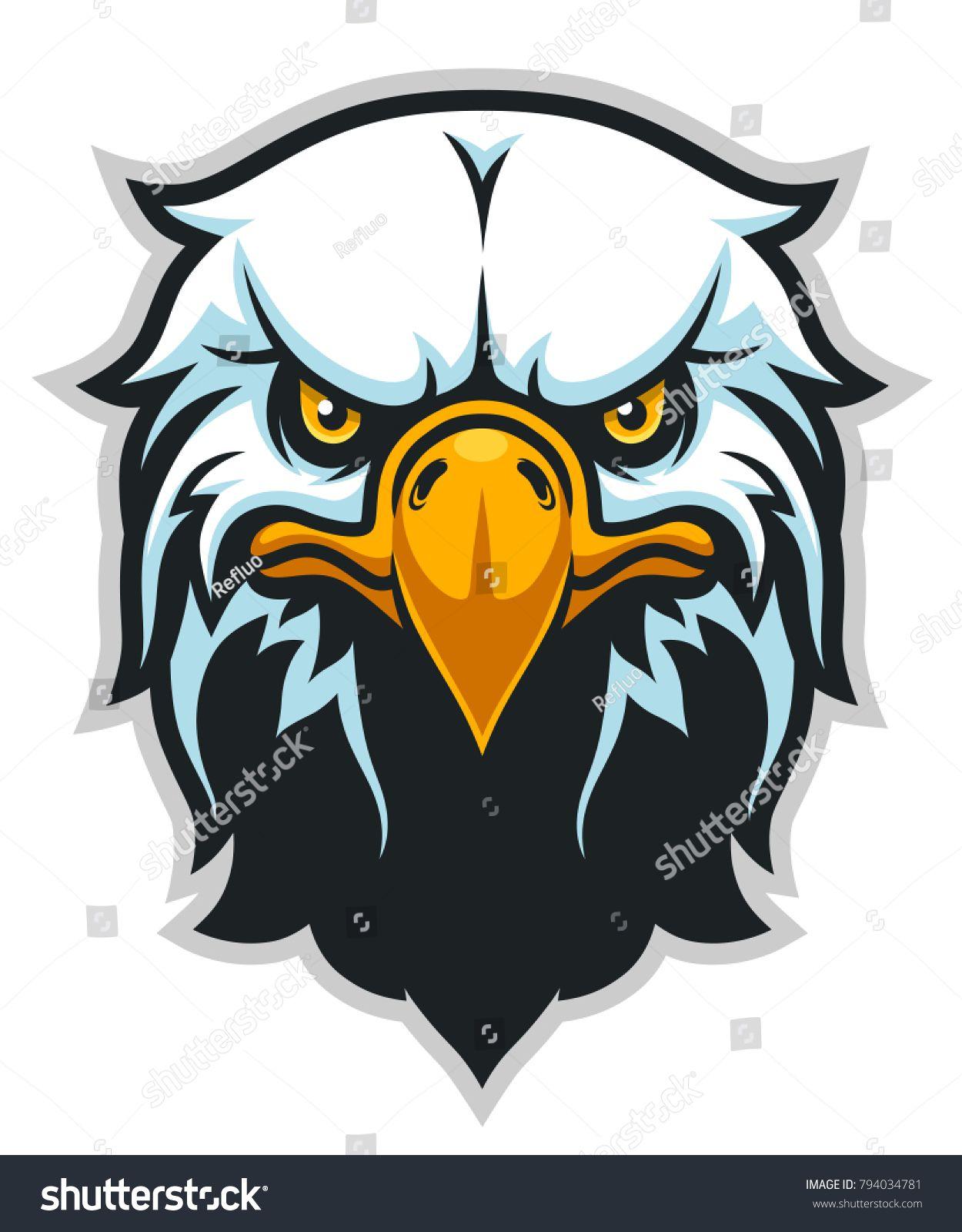 Vector Illustration Of Bald Eagle Head Can Be Used As Mascot Bald Illustration Vector Mascot Eagle Drawing Eagle Art Eagle Wallpaper