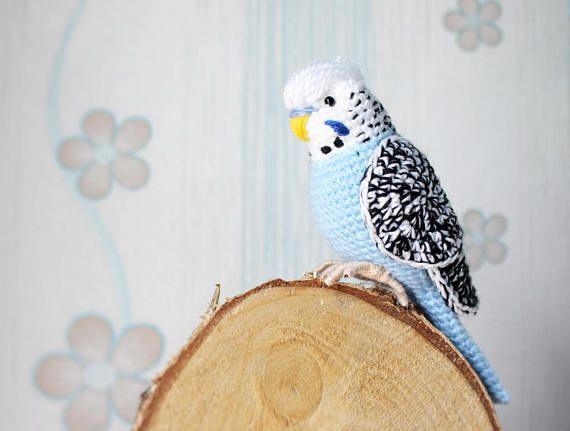 Amigurumi Bird Tutorial : Crochet budgie pattern tutorial pdf amigurumi lovebird cockatiel