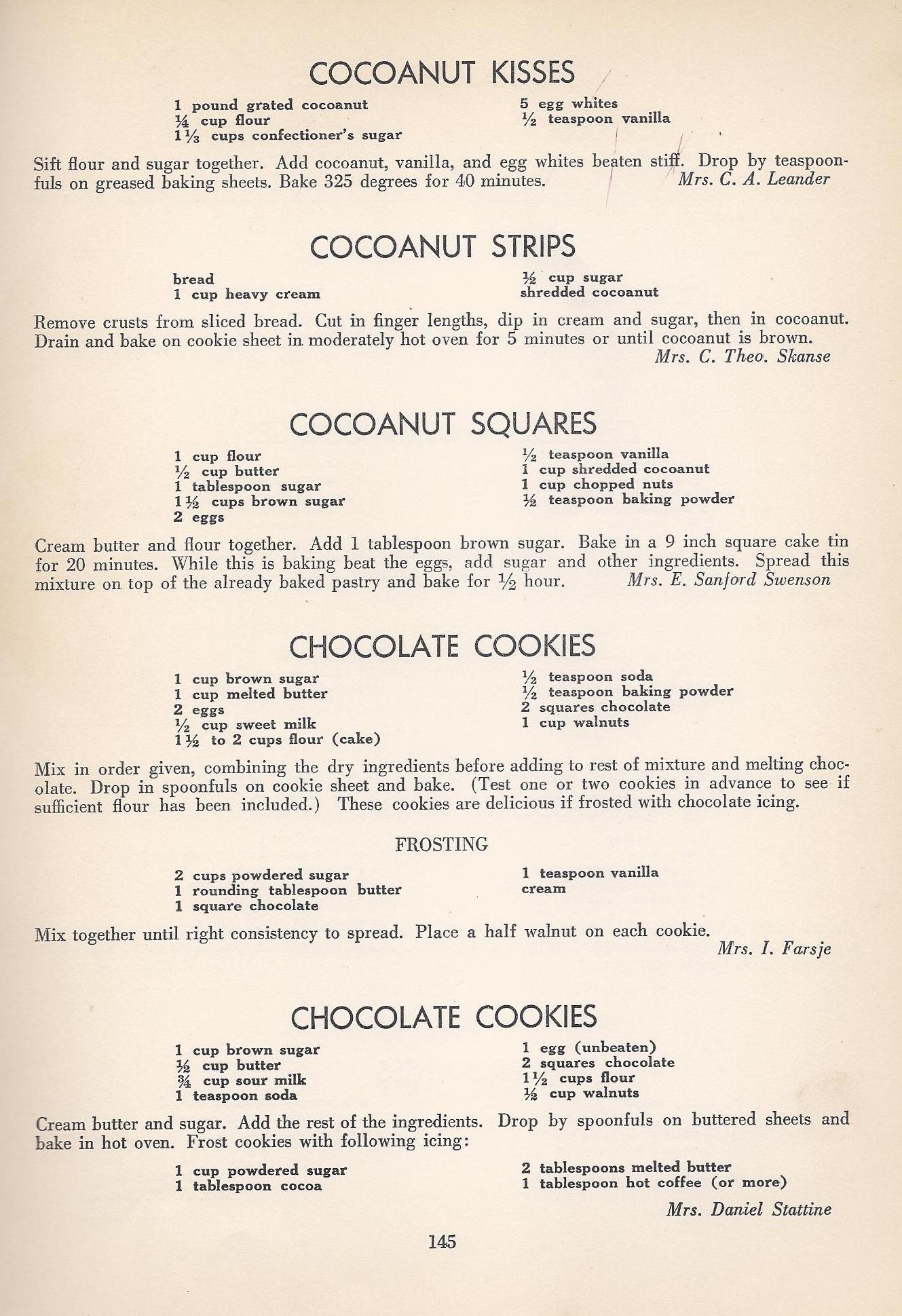 Vintage Cookies8 Vintage Recipes Cookie Recipes Old Recipes