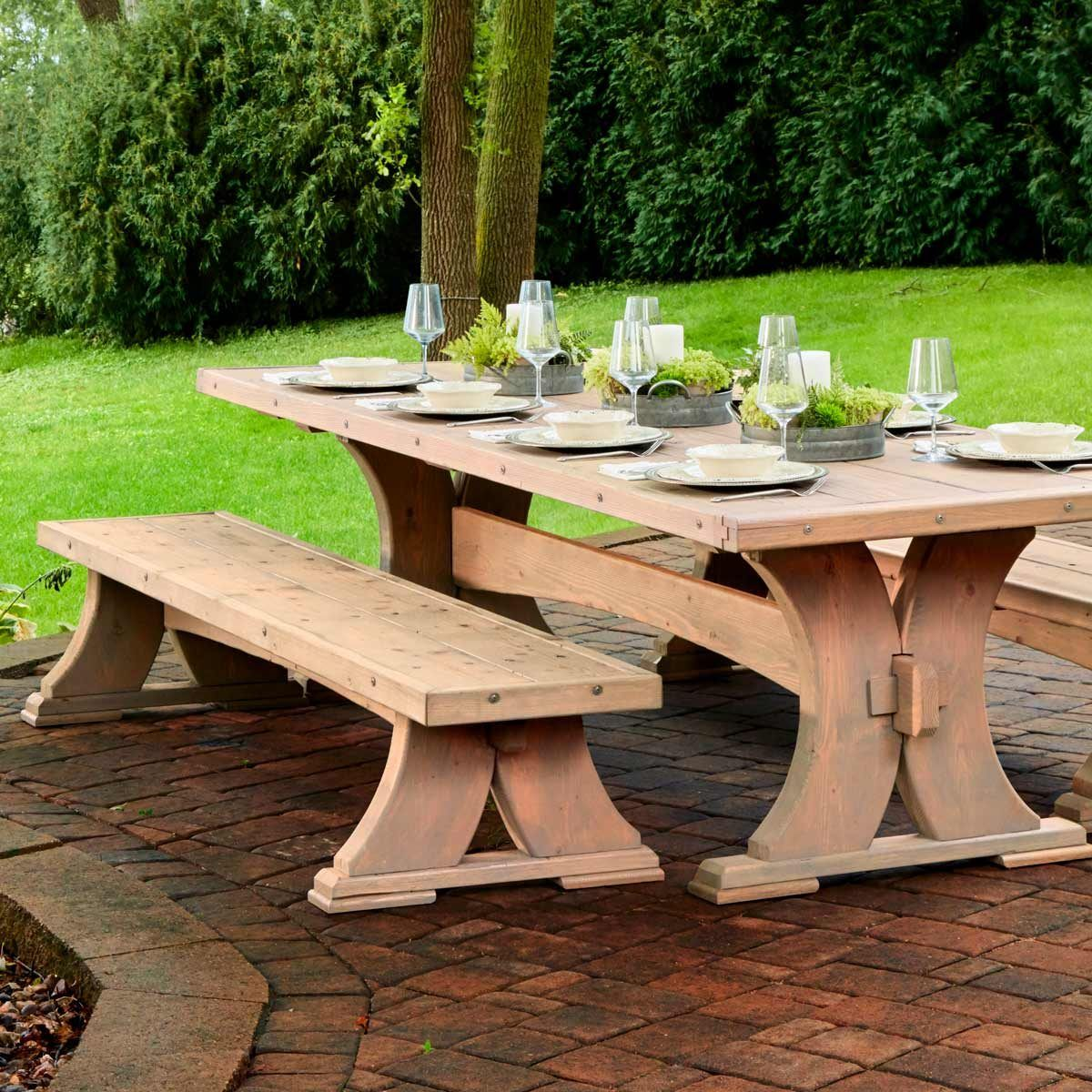 Heavy Duty Viking Bench Rustic Outdoor Furniture Dining Table Diy Outdoor Weddings