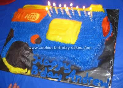 Coolest Nerf Gun Birthday Cake Nerf war Betty crocker and Food cakes