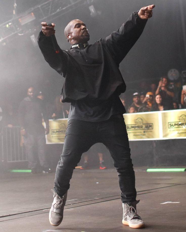 Kanye Summer Jam 16 in Yeezy 750 Grey/Gum