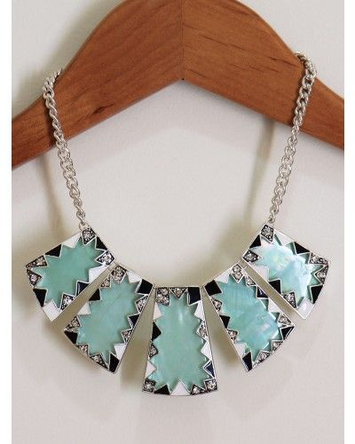 Mint Shell Tribal Necklace $22