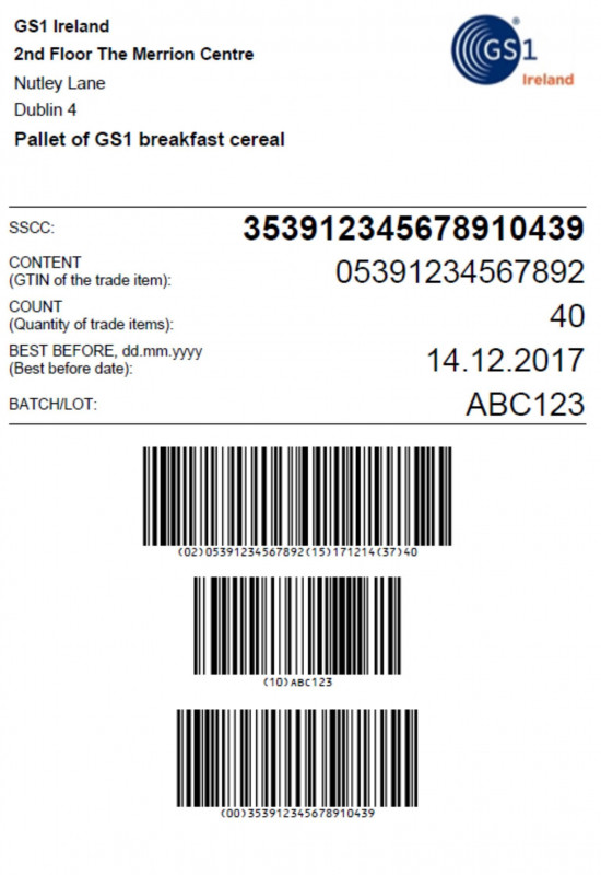Contract Template New Sample Gs1 Pallet