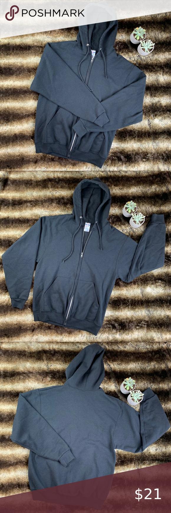 Sold Jerzees Black Hoodie Black Hoodie Hoodies Fashion [ 1740 x 580 Pixel ]