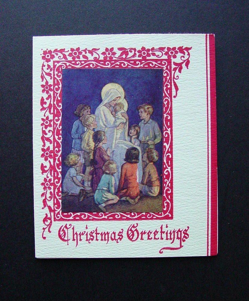 Unused margaret w tarrant xmas greeting card children adoring unused margaret w tarrant xmas greeting card children adoring baby jesus kristyandbryce Images
