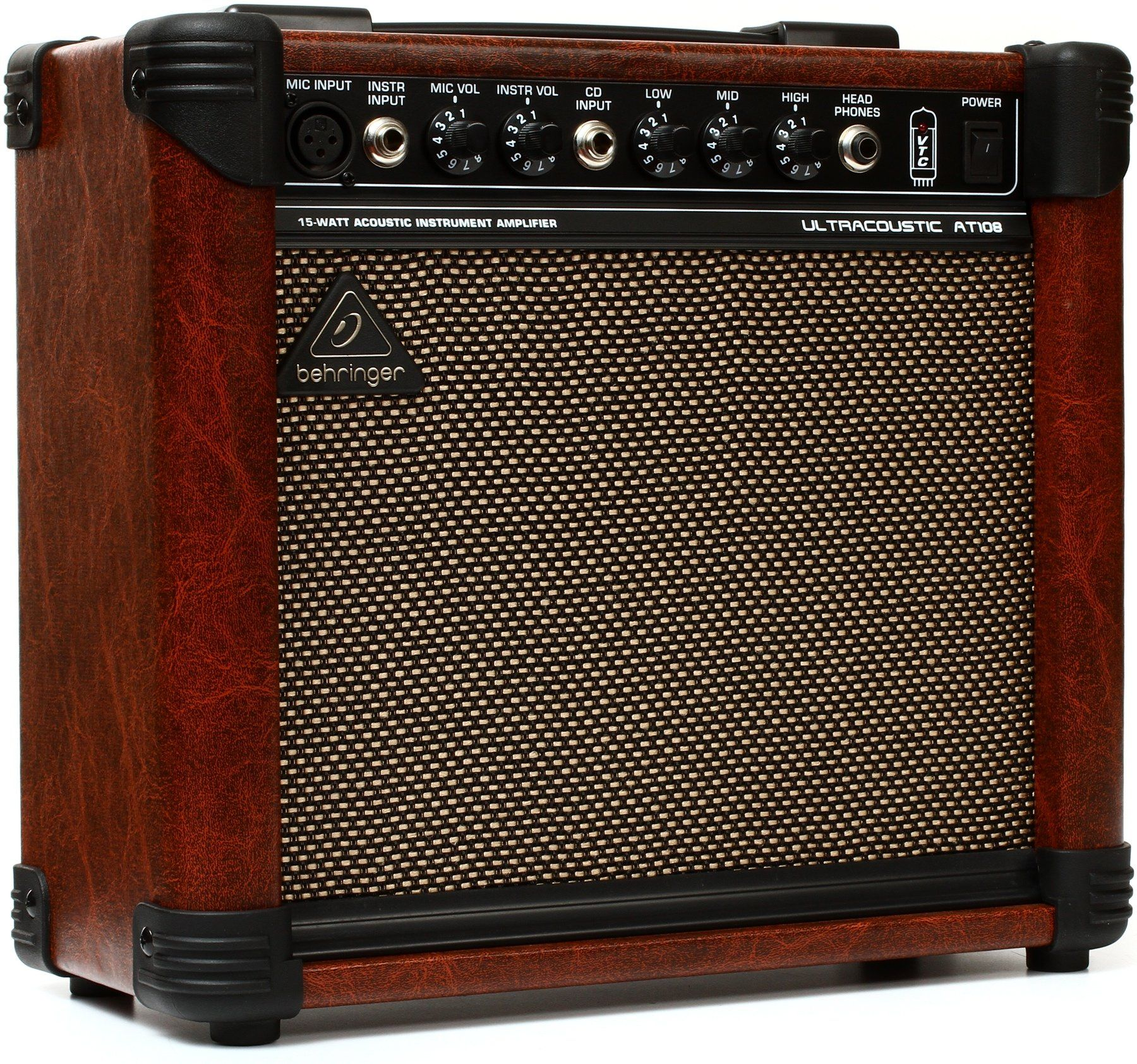 Behringer Ultracoustic At108 15 Watt 8 Acoustic Instrument Amp Sweetwater Guitar Amps For Sale Acoustic Instrument Acoustic