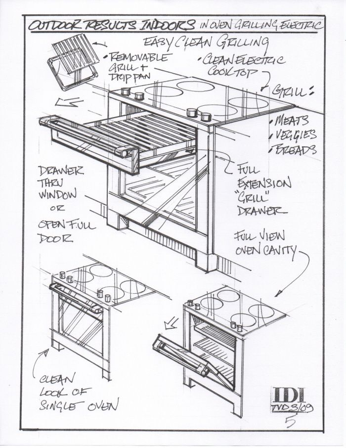 Hand Sketch Oven Concepts By Tom Van Dyk At Coroflot Com