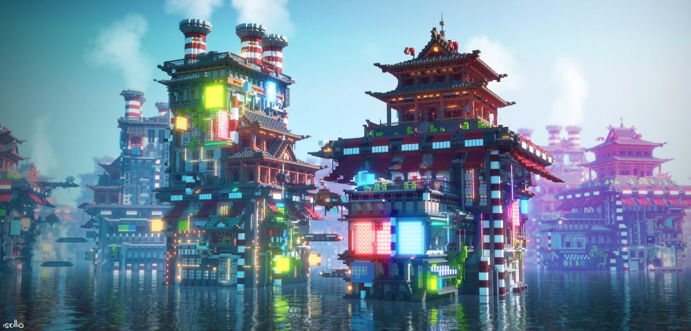 Hi I'm a environment designer who uses Minecraft as their medium Here's my latest project rendered by Iskillia