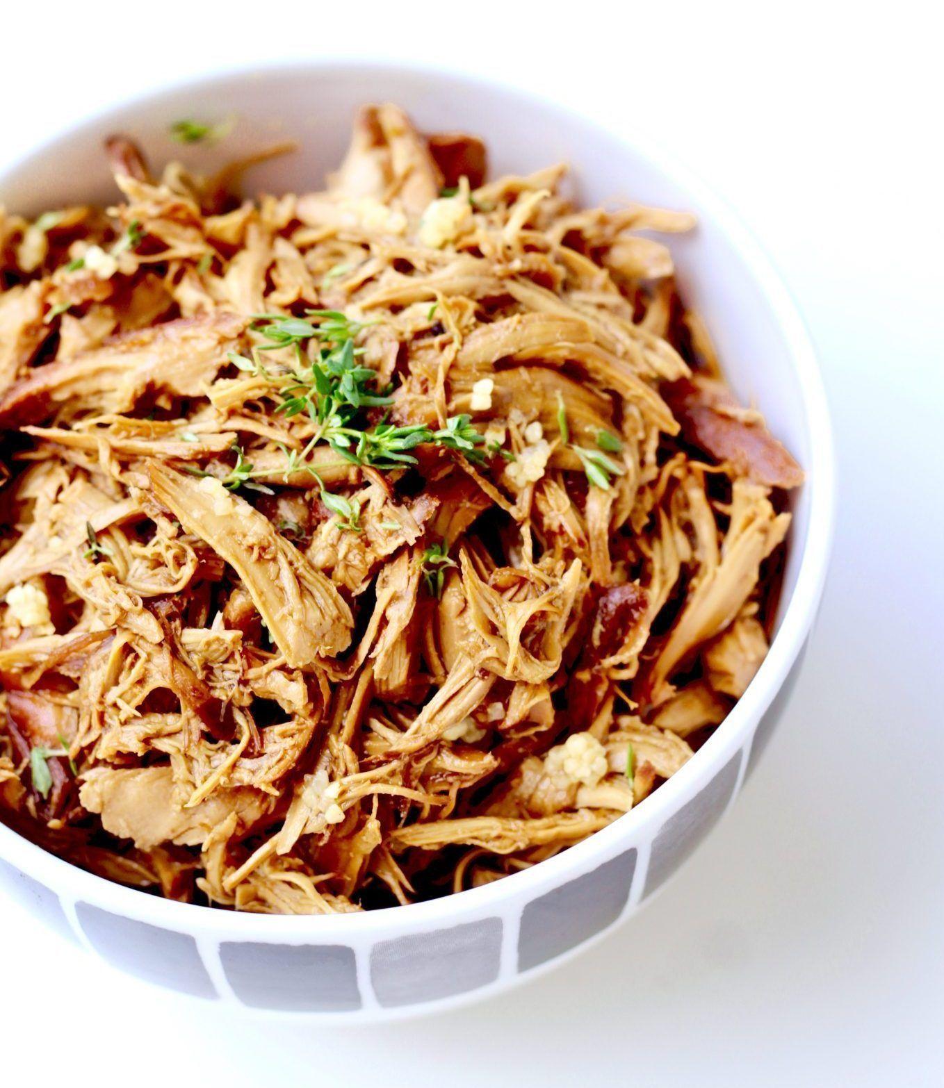 Simple Chicken Crock Pot Recipes Healthy: 5 Ingredient Crock Pot Honey Garlic Chicken