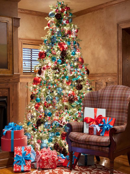 Americana Tree Decor By Tobi Fairley Christmas Decorations Beautiful Christmas Trees Merry Little Christmas