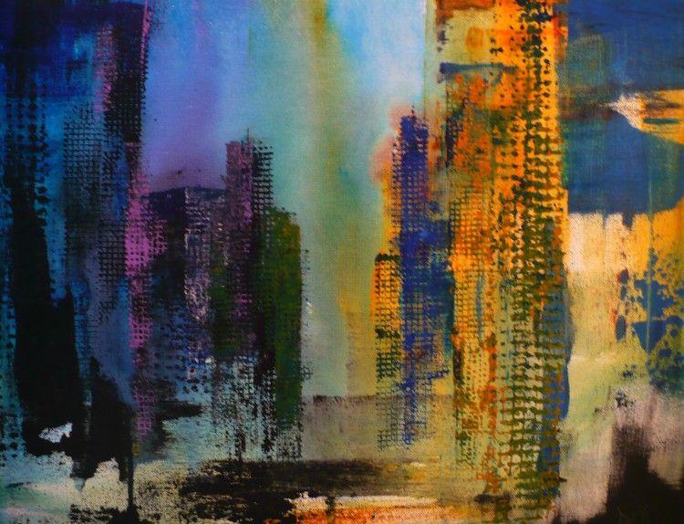 Composition no 2 - Painting, 20x16 in ©2014 par Denise ...