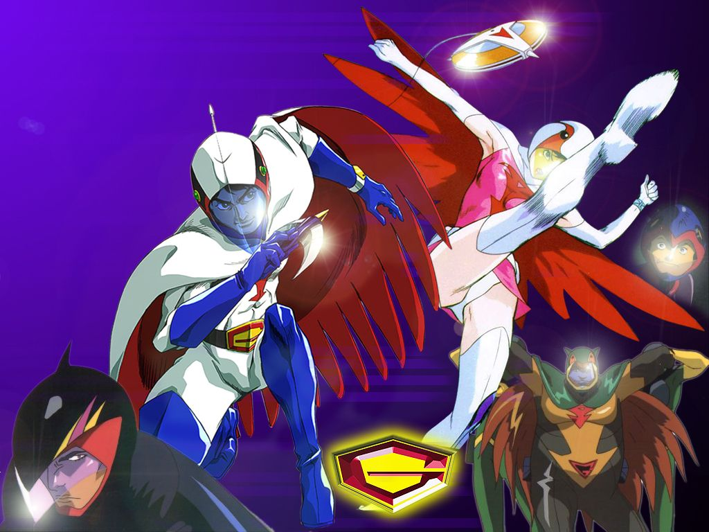 Several Images That I Got Of Gatchaman From Various Sites Brought