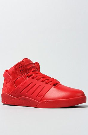 SUPRA The Skytop III Sneaker in Red Leather Suede faa5edf6a